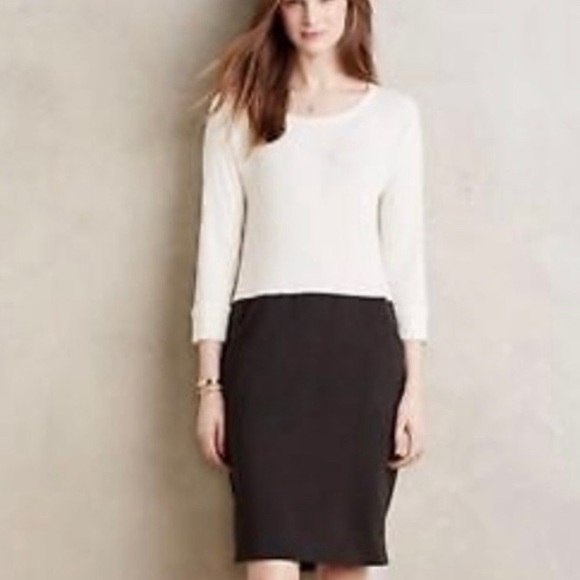 Anthropologie Dresses & Skirts - Anthropologie Amadi Cream Black Cozy Dress XL